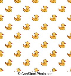 Yellow duck toy pattern