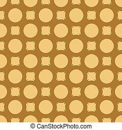 Yellow pattern on dark orange seamless vector background.