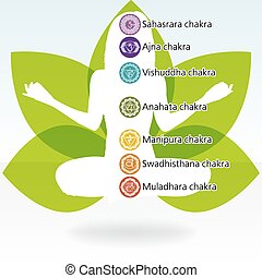 Yoga lotus template. EPS 8 vector file included