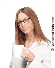 Young girl with a cup