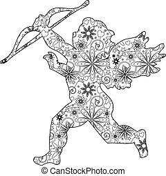 Zentangle cupid