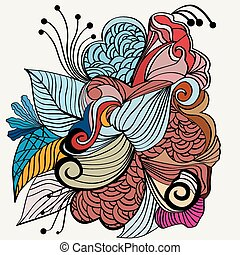Zentangle hand drawn design