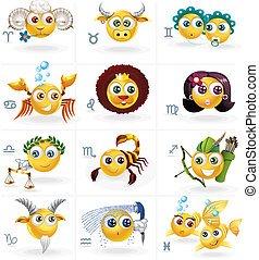 Zodiac Signs - Icons/Smiley Figures