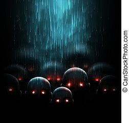 Zombie apocalypse, mystic background, eps 10